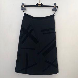 Chanel vintage skirt with velvet details